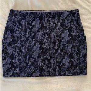 Snake skin cloth material skirt